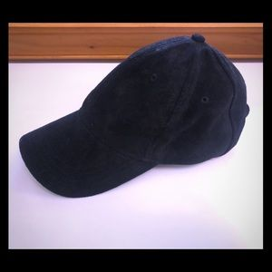 Black Suede-like Baseball Cap